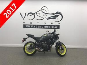 2017 Yamaha FZ07HG - V2728 - **Free Delivery in the GTA