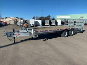 "NEW 2019 K-TRAIL 102"" x 25' HD GALVANIZED DECK-OVER TRAILER"