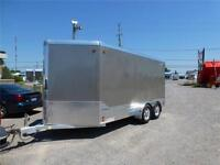 USED 2014 ALL ALUMINUM LEGEND 7 X 17 FT DELUXE V NOSE ENCLOSED