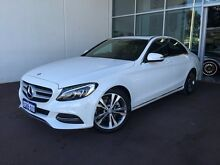 2015 Mercedes-Benz C200 W205 7G-Tronic + White 7 Speed Sports Automatic Sedan Cannington Canning Area Preview