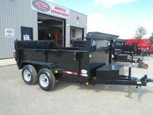 COMBO GATE HYDRAULIC DUMP TRAILER 6X10 5 TON -GET YOURS TODAY London Ontario image 2