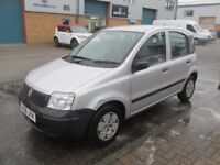 fiat panda 2008 08,reg petrol 1.1 5dr silver very good condition/runner £1495 px/welcome