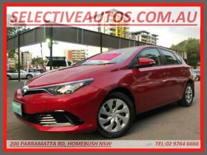 2017 Toyota Corolla ZRE182R MY17 Ascent Burgundy 7 Speed CVT Auto Sequential Hatchback Homebush Strathfield Area Preview