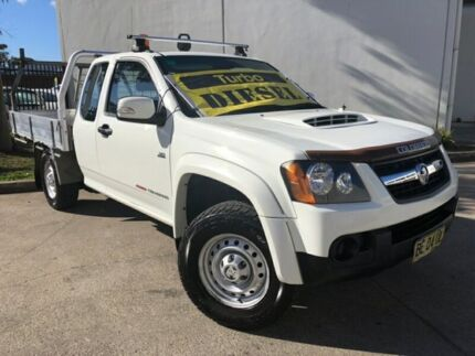 2010 Holden Colorado RC MY10 LX Cab Chassis Space Cab 2dr Man 5sp 4x4 1213kg 3.0D White Manual Oxley Park Penrith Area Preview