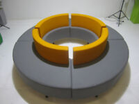 Allermuir Round Modular Reception seating / Waiting area seating Showroom condition.
