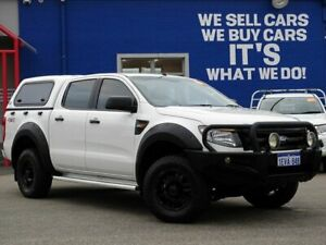 2015 Ford Ranger PX XL Double Cab White 6 Speed Sports Automatic Utility Welshpool Canning Area Preview