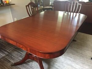 Duncan Phyfe Mahogany Antique Dining Table