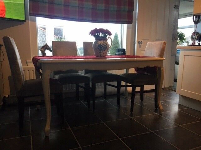 Laura Ashley Provencale Ivory Extending Dining Table And