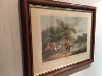 Stag Hunting 2 La Chasse Au Cerf. By Samuel Howitt. Framed Print.
