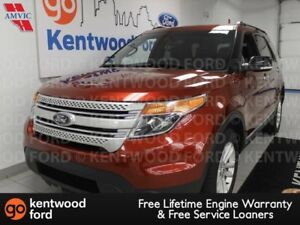 2014 Ford Explorer XLT 4WD with heated power leather seats, NAV,