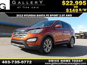 2013 Hyundai SantaFe Sport AWD $149 bi-weekl APPLY NOW DRIVE NOW