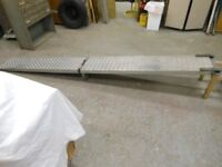 aluminium folding heavy duty ramp 11ft long x 16 ins wide