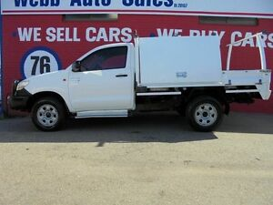 2011 Toyota Hilux KUN26R MY10 SR White 5 Speed Manual Cab Chassis Welshpool Canning Area Preview