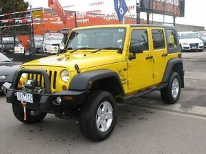2008 Jeep Wrangler Unlimited JK MY08 Sport (4x4) Yellow 6 Speed Manual Softtop Brooklyn Brimbank Area Preview