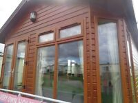 Gourgeous 14ft brown lodge for sale on Premium plot in North Norfolk