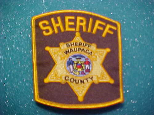 WAUPACA COUNTY WISCONSIN POLICE PATCH SHOULDER SIZE UNUSED