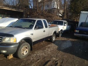 2 --  2000 Ford F-150 4x4 Pickup Trucks For Price of   --  1 !!!