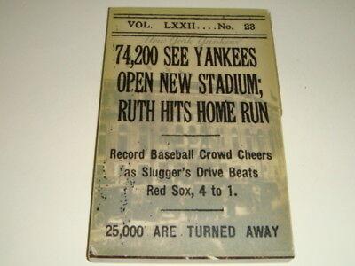 2008 New York Yankees Media Guide, Final Season Yankee Stadium Edition
