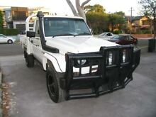 2006 Toyota Landcruiser HDJ79R MY06 Muster White 5 Speed Manual 4x4 Cab Chassis Kingsgrove Canterbury Area Preview