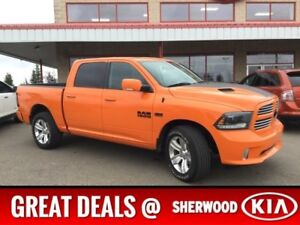 2015 Ram 1500 4WD CREWCAB SPORT Accident Free,  Navigation (GPS)