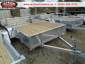 "74""X10' ALL ALUMINUM UTILITY TRAILER - SAY BYE TO RUST! London Ontario image 1"