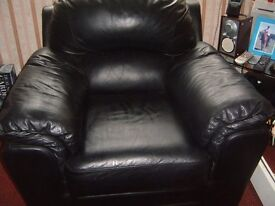 two black arm chairs