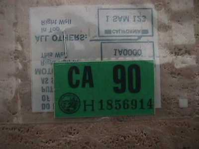 Never Used    Ca License Plate 1990 Sticker  Original Dmv Issued