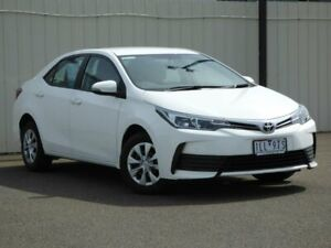 2017 Toyota Corolla ZRE172R Ascent S-CVT White 7 Speed Constant Variable Sedan Sunbury Hume Area Preview
