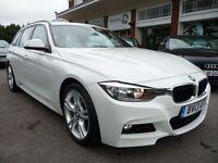 BMW 3 SERIES 2.0 320D M SPORT TOURING 5d 181 BHP (white) 2013