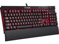 Corsair VENGEANCE K70 Fully Mechanical Gaming Keyboard Anodized Black — CHERRY MX Red