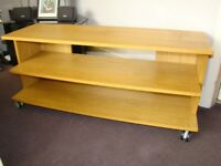 PLASMA TV STAND -LARGE SOLID- Good condition.......