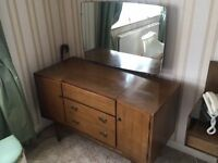 Wrighton 1950's Dressing Table and Mirror