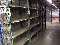 job lot 10 bays DEXION impex industrial shelving 2.4 meters high ( pallet racking , storage)