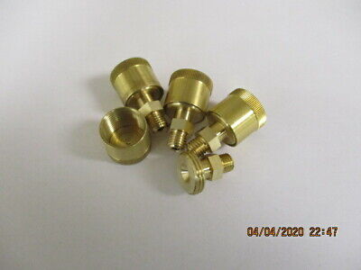 4 Hit Miss Model Gas Engine Brass Grease Cups 14-28 Mounting Thread New