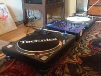 Technics 1210mk2 x 2 and Numark mixer