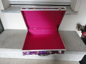 Purple butterfly printed storage suitcase container box decor London Ontario image 4