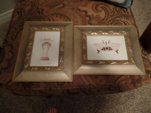 (2) Small Very Pretty BATHROOM PICTURES (AS NEW) ~ $5.00/BOTH