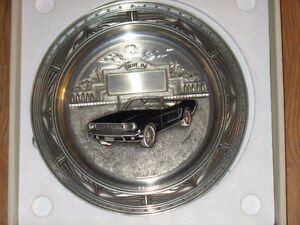 """**SOLD**SOLD**""""THE 1965 MUSTANG"""" DON EVERHART PEWTER PLATE -1995"""