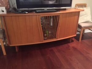 Solid Teak Side Table with Light