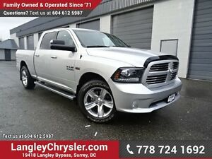 2016 RAM 1500 Sport W/ 4X4, TOW PACKAGE & BLUETOOTH