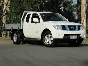 2013 Nissan Navara D40 S8 ST-X King Cab White 6 Speed Manual Utility Slacks Creek Logan Area Preview