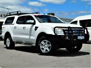 2012 Ford Ranger PX XLT Double Cab White 6 Speed Sports Automatic Utility Bibra Lake Cockburn Area Preview
