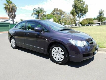 2007 Honda Civic 8th Gen MY07 VTi Purple 5 Speed Manual Sedan Somerton Park Holdfast Bay Preview