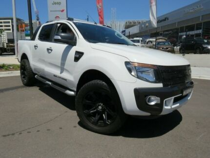 2014 Ford Ranger PX Wildtrak Double Cab White 6 Speed Sports Automatic Utility Wickham Newcastle Area Preview