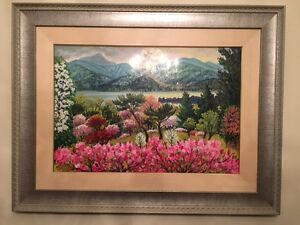 Original Landscape Painting with Silver Colour Frame