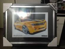 TRANSFORMERS BUMBLE BEE 2008 CHEVY CAMARO FRAMED PRINT Cranbourne Casey Area Preview