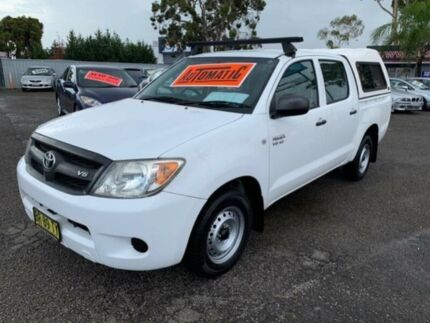 2007 Toyota Hilux GGN15R 07 Upgrade SR White 5 Speed Automatic Dual Cab Pick-up Cabramatta Fairfield Area Preview