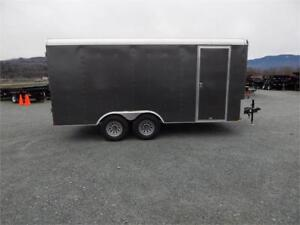 NEW 16X8.5 CHARCOAL GREY ENCLOSED CARGO TRAILER 10000LB