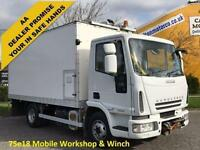 2007 Iveco Eurocargo 75e18 Box [ Mobile Workshop ] van A/con + Winch 7.5ton 4x2