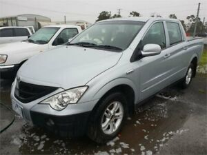 2011 Ssangyong Actyon Sports Q100 MY08 (4x4) Silver 5 Speed Manual Double Cab Utility Delacombe Ballarat City Preview